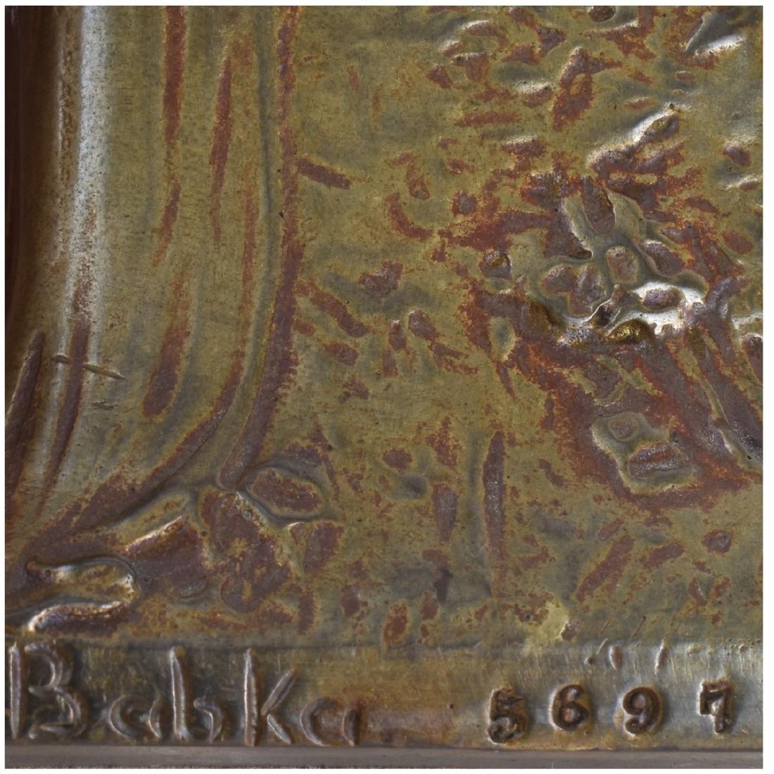 Geschutzt Art Nouveau Austrian Gilt Bronze Vase - 4