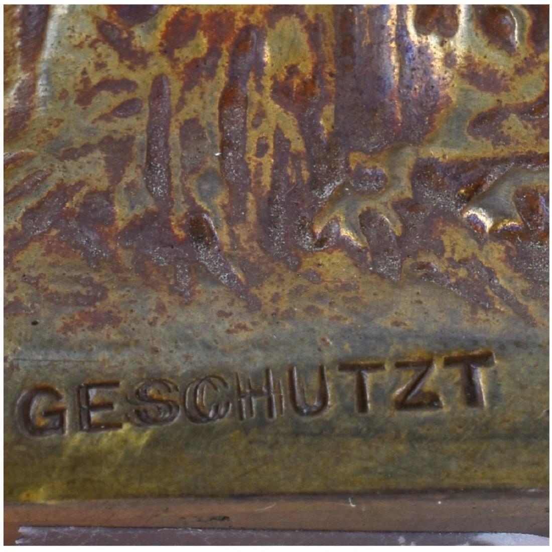 Geschutzt Art Nouveau Austrian Gilt Bronze Vase - 5
