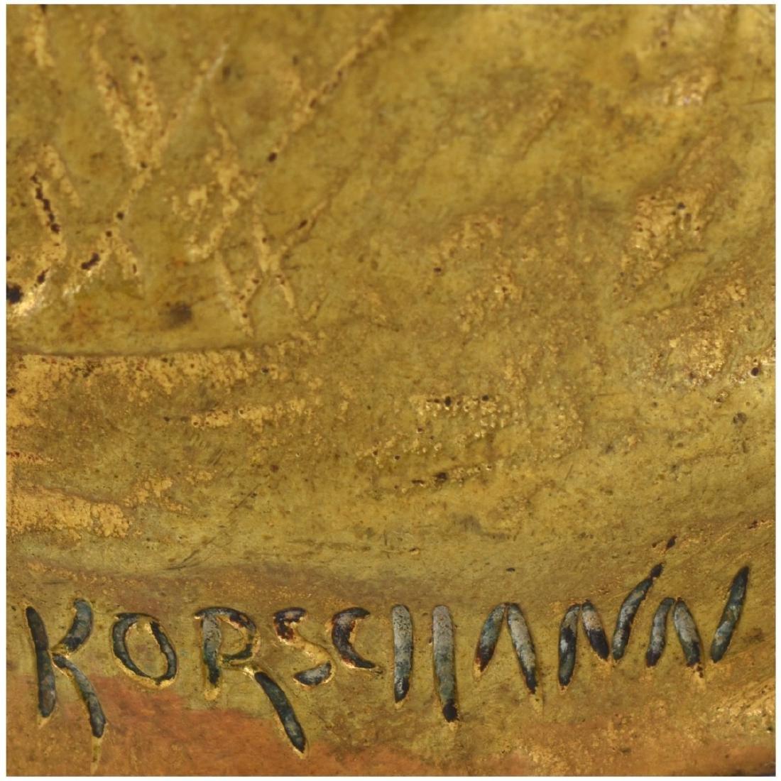 Charles Korschann (1872 - 1943) Art Nouveau Bronze - 5