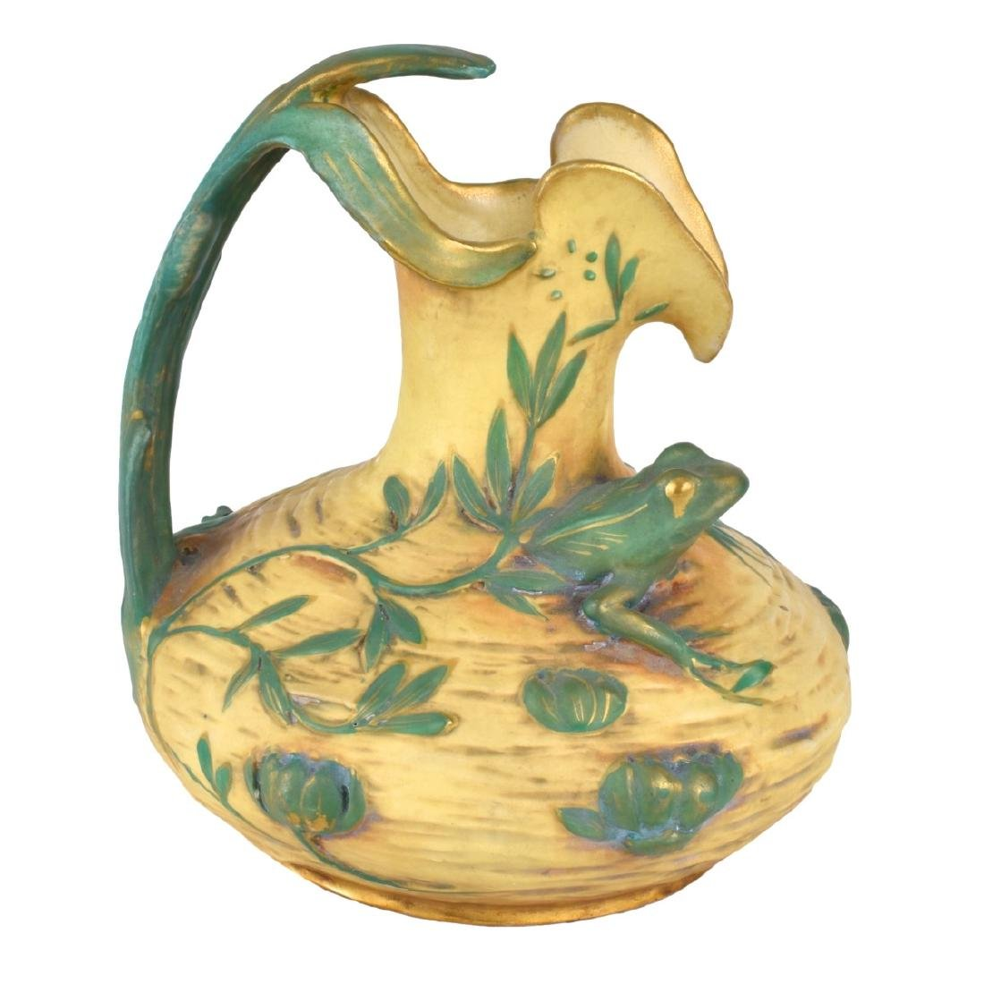Amphora Art Nouveau Polychrome Pottery Vase