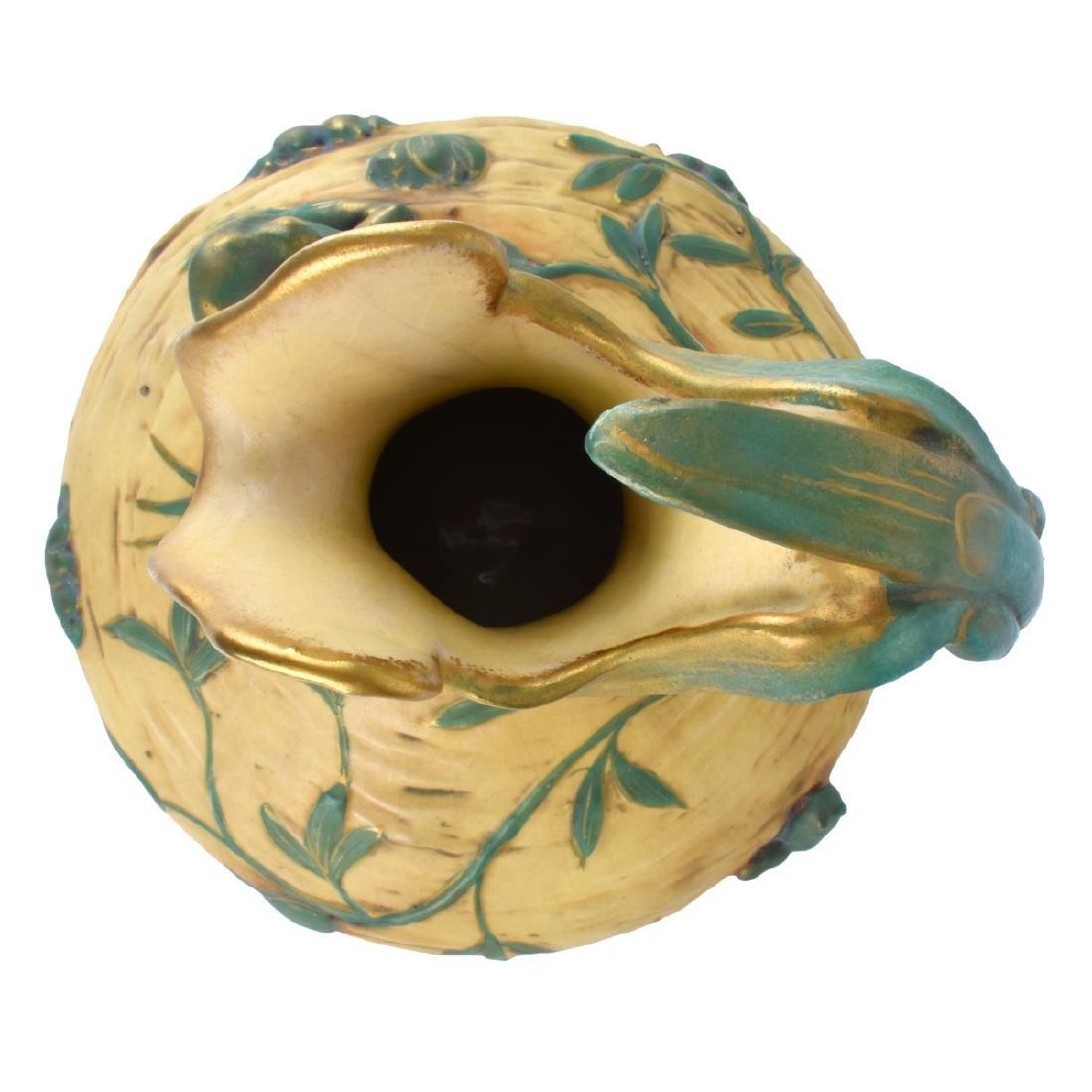 Amphora Art Nouveau Polychrome Pottery Vase - 5