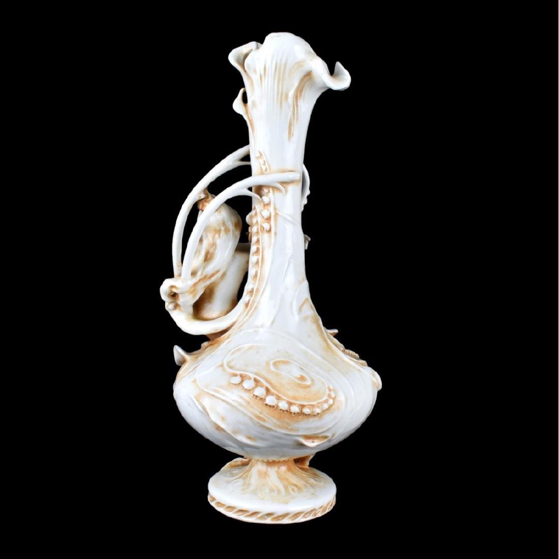 Antique Amphora Art Nouveau Porcelain Vase - 3