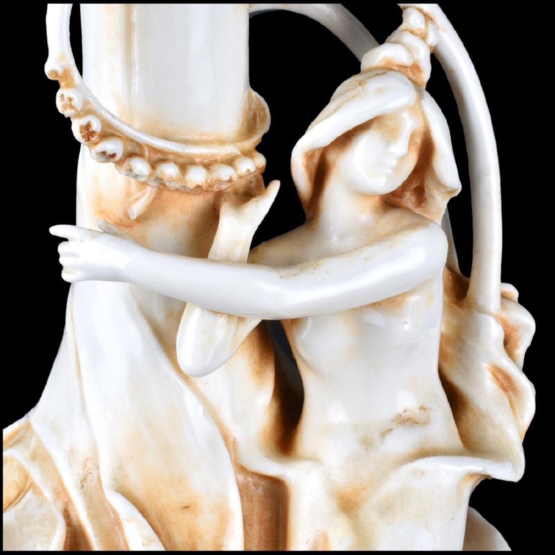 Antique Amphora Art Nouveau Porcelain Vase - 4