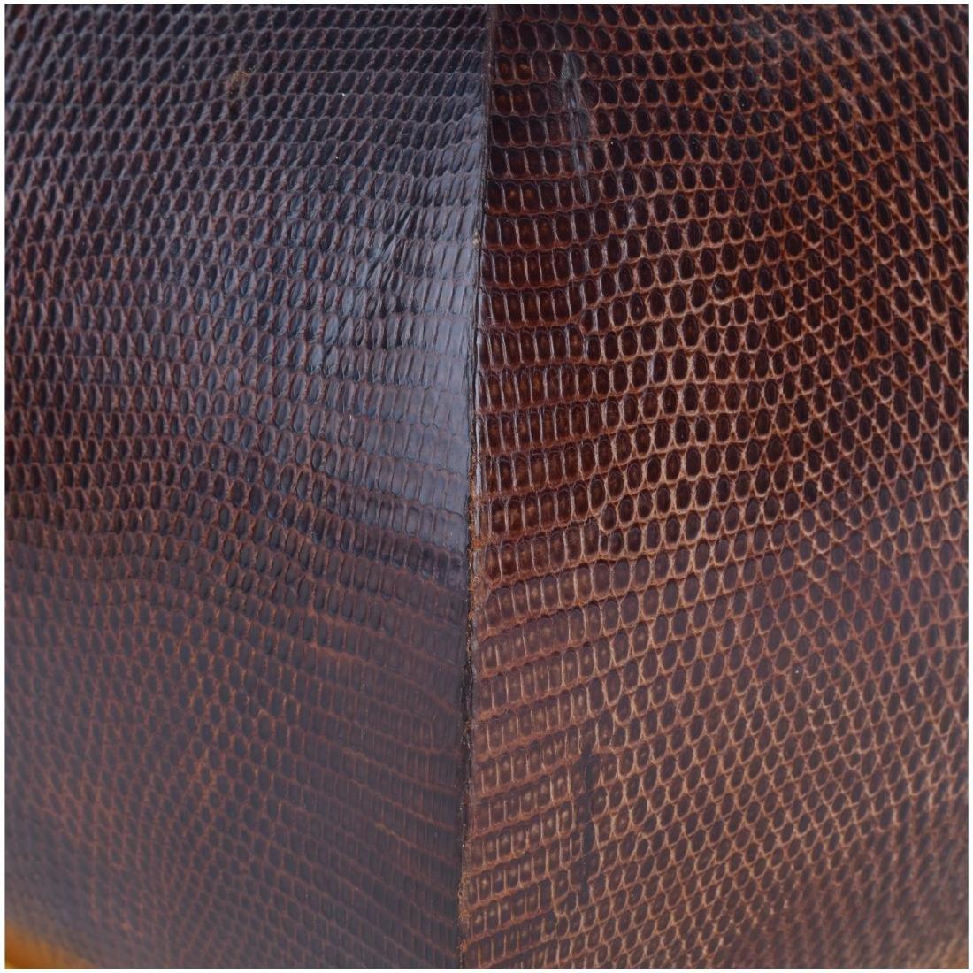 Pair of Nicholas Mongiardo Lizard Skin Planters - 3