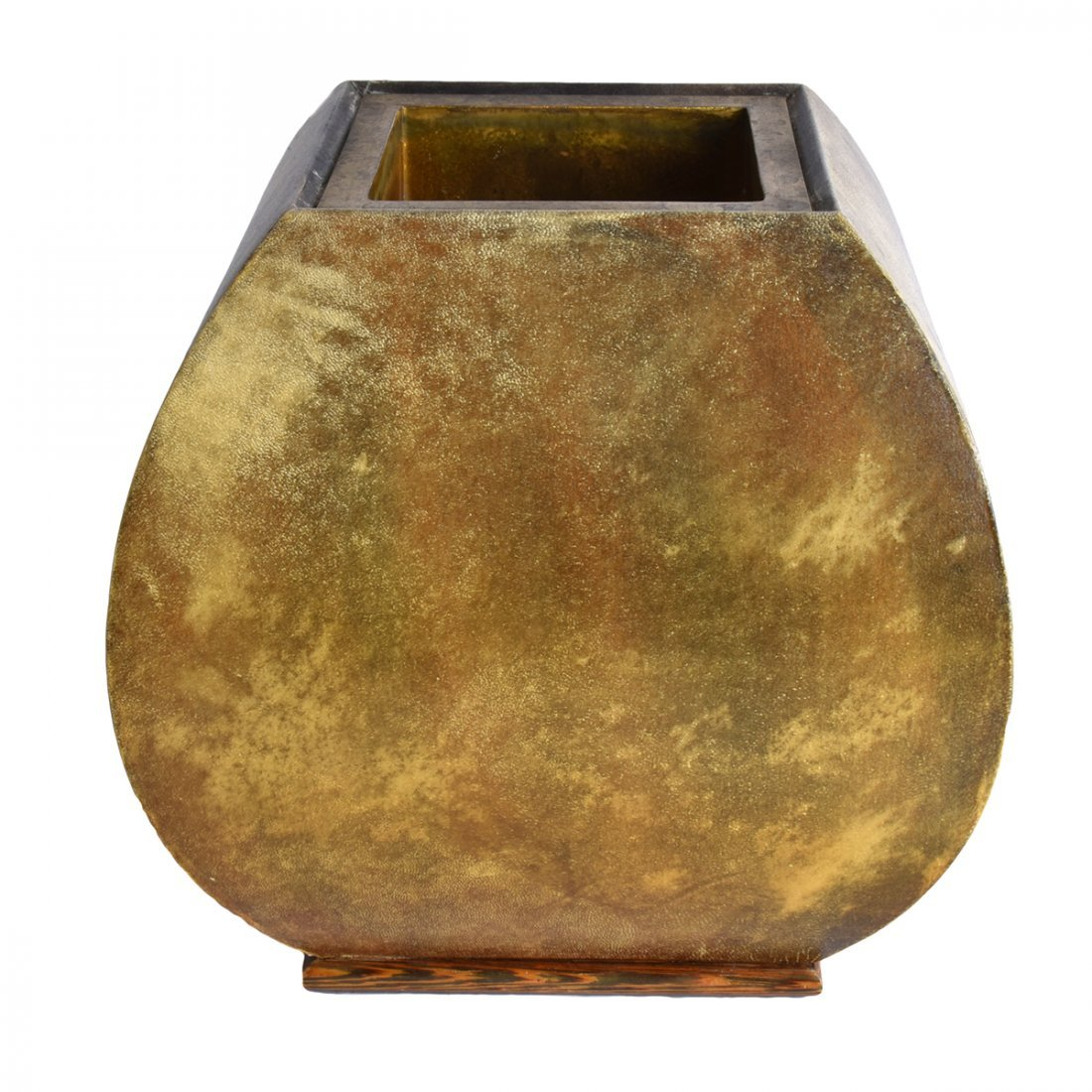 Nicholas Mongiardo Goat Skin and Bronze Planter