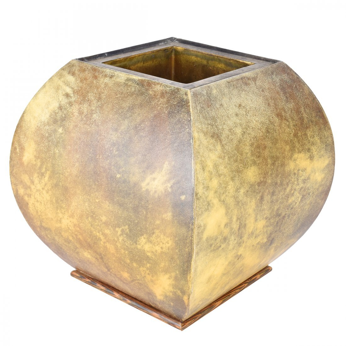 Nicholas Mongiardo Goat Skin and Bronze Planter - 2
