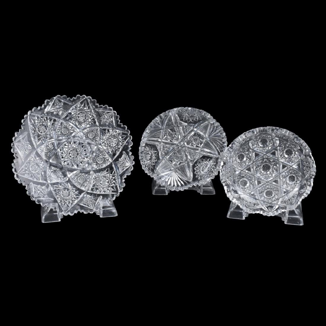 Grouping of Five (5) Cut Glass Tableware - 3
