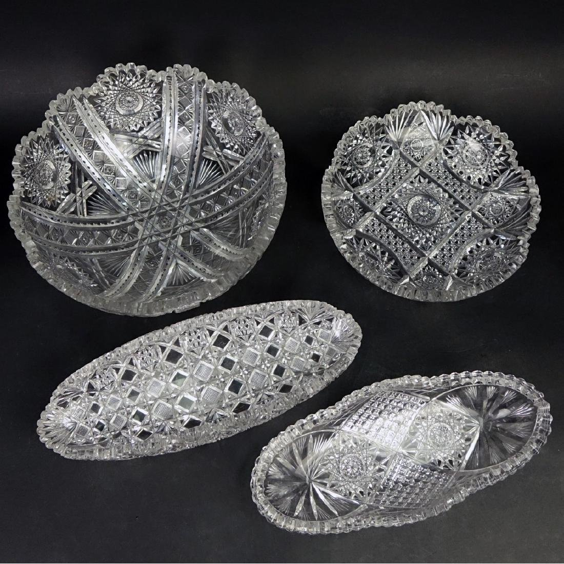 Collection of Four (4) Brilliant Cut Glass Bowls - 2