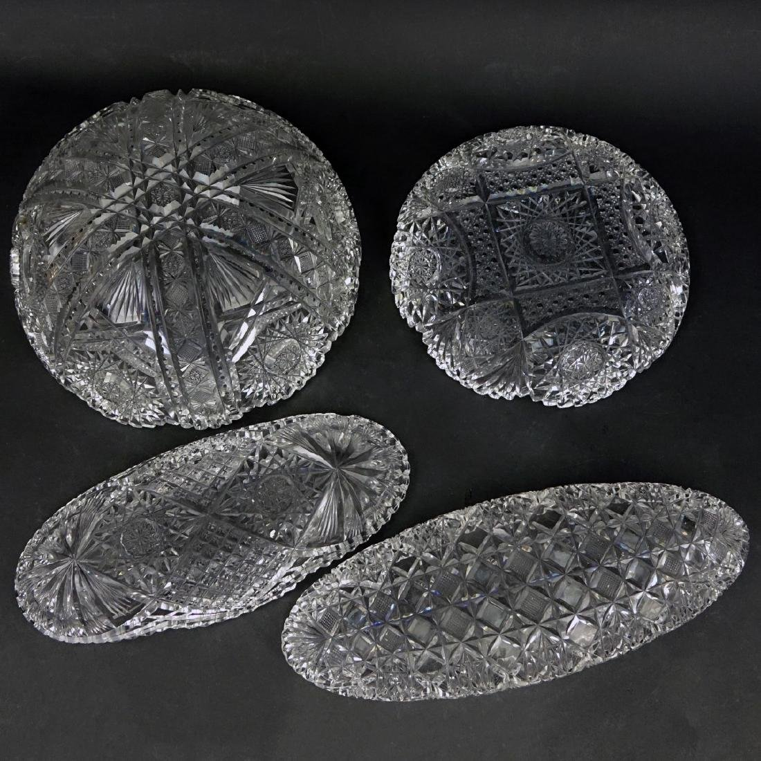 Collection of Four (4) Brilliant Cut Glass Bowls - 3