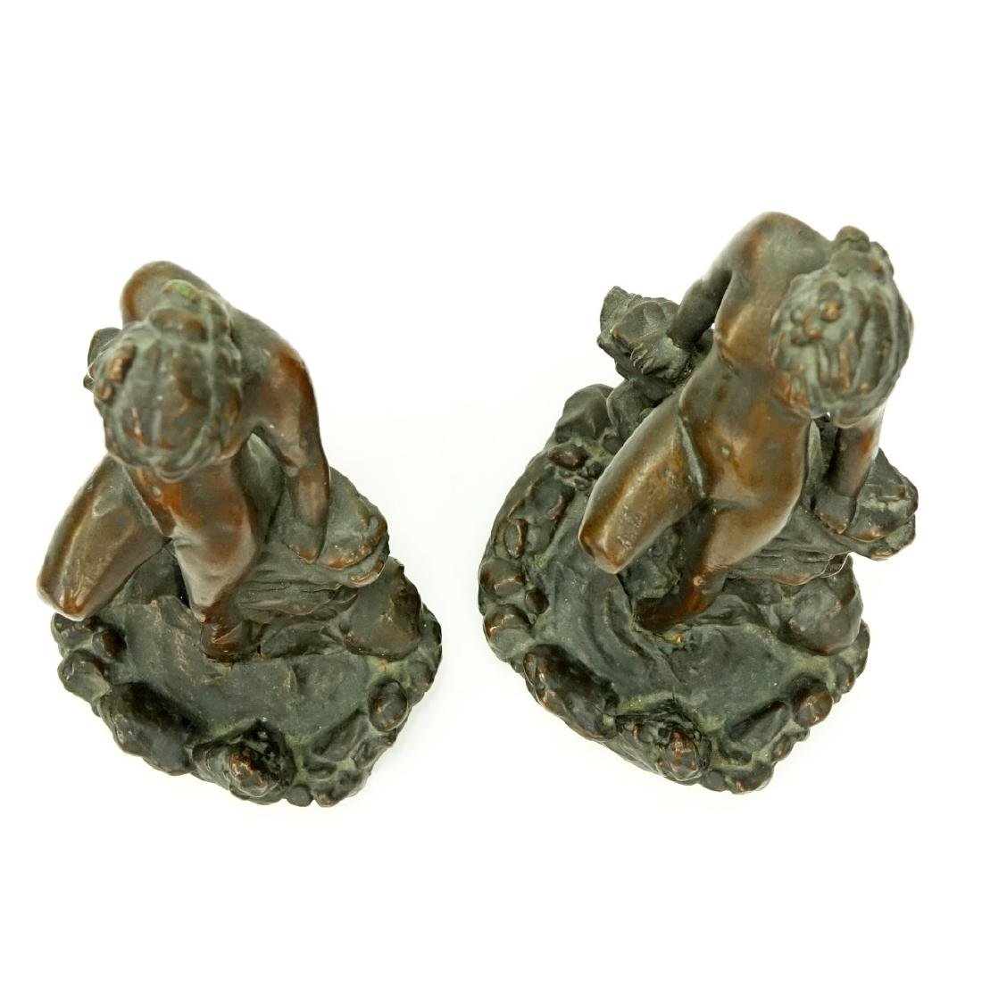 Pair KBW Bronze Clad Bookends Nude At Pond - 2