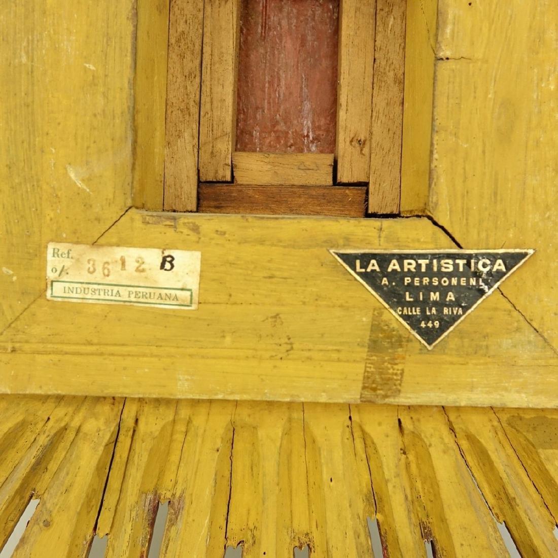 Antique Cuzco School Miniature Oil on Board - 4