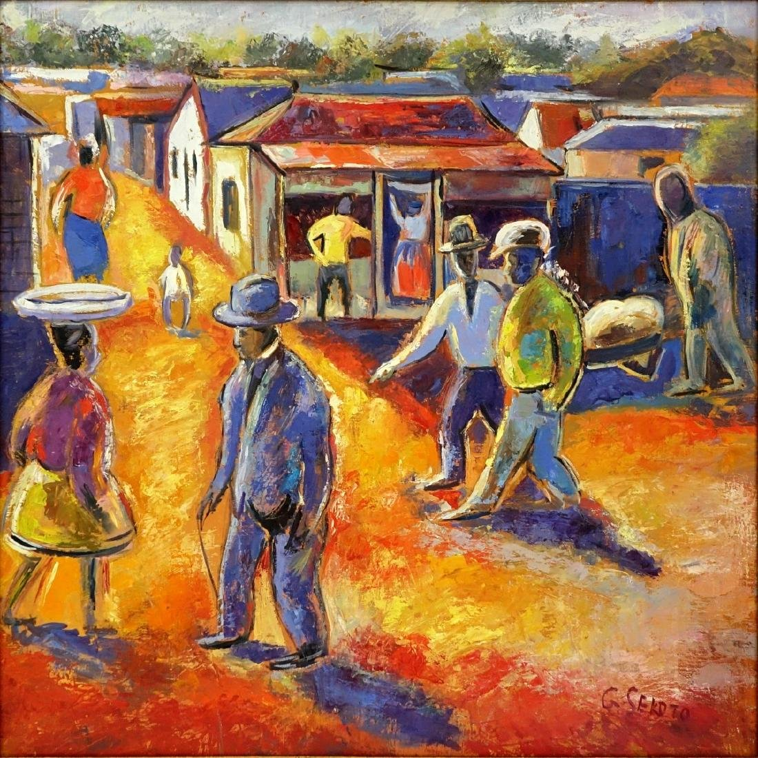 After: Gerard Sekoto (1913 - 1993) Oil/Canvas