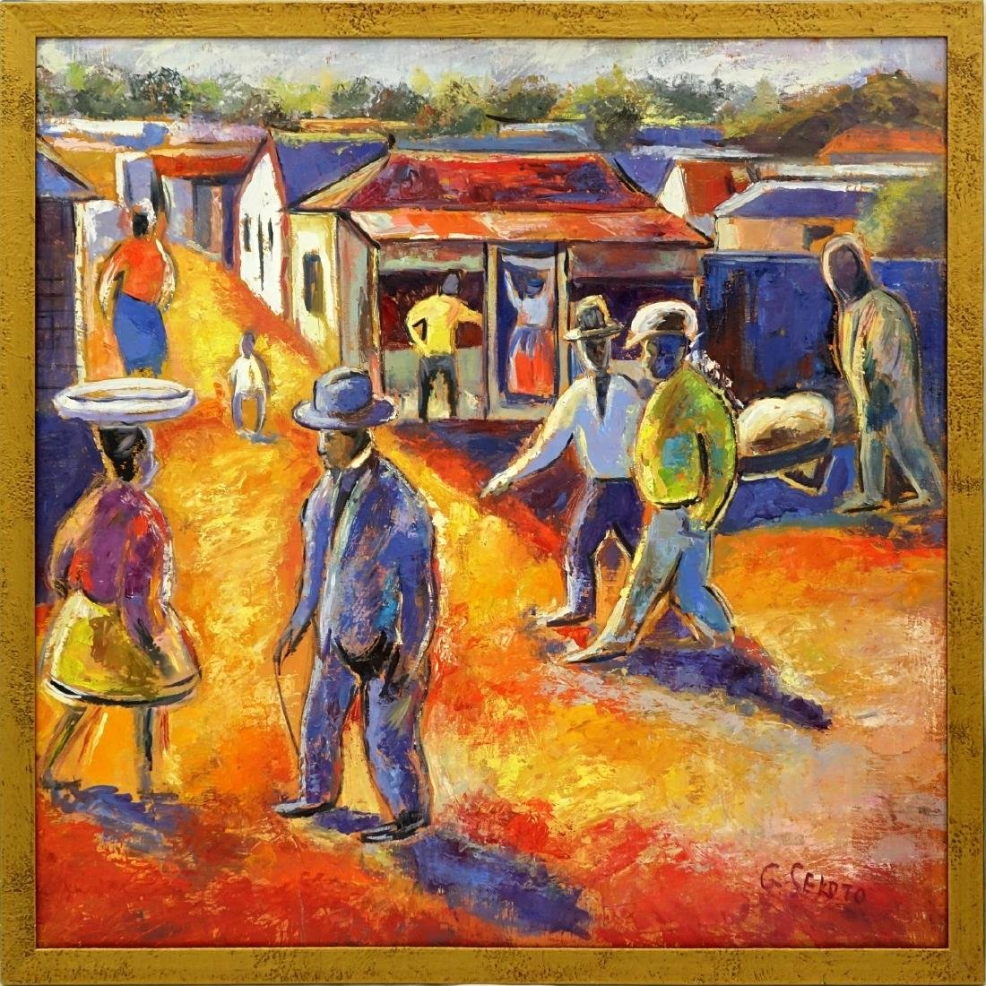 After: Gerard Sekoto (1913 - 1993) Oil/Canvas - 2