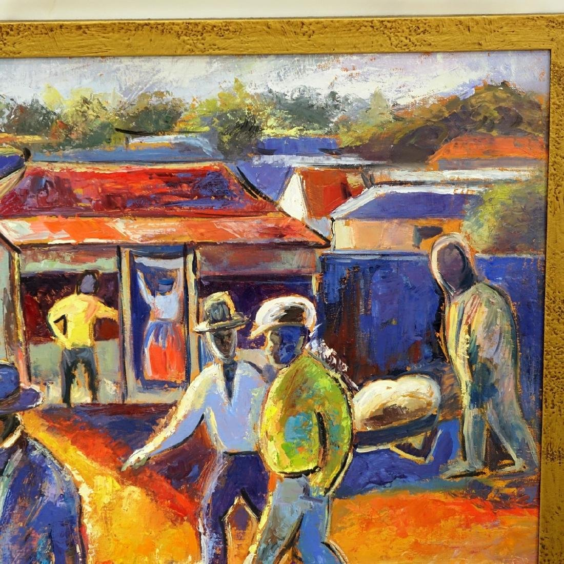 After: Gerard Sekoto (1913 - 1993) Oil/Canvas - 5