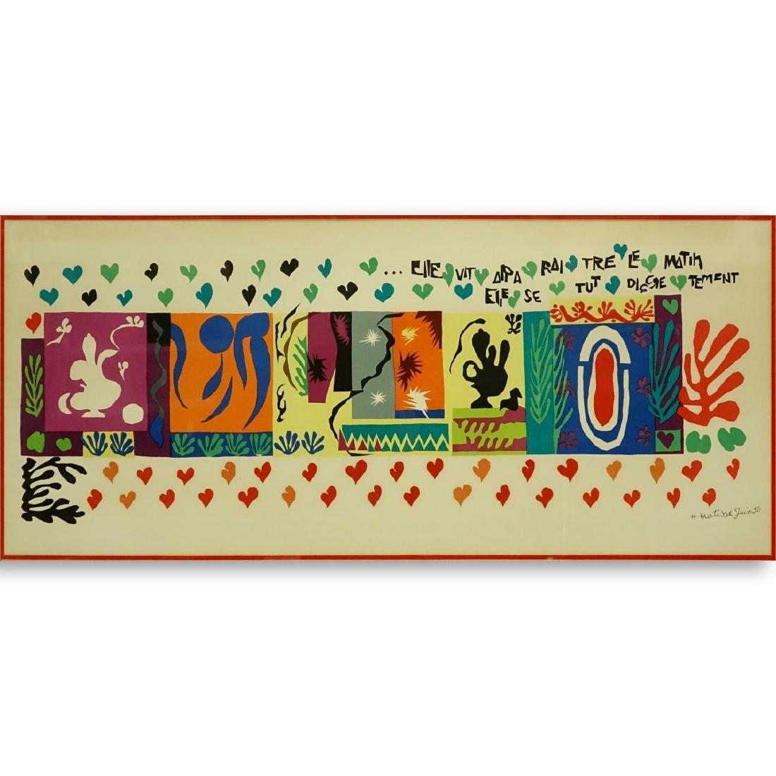 Henri Matisse, French (1869 - 1954) Lithograph