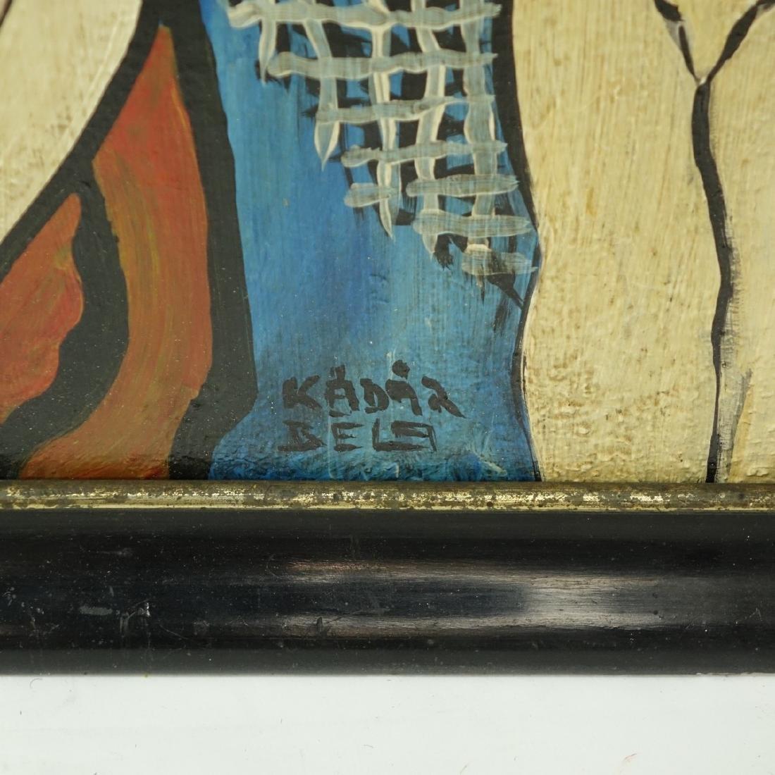 Attributed to: Bela Kadar, Hungarian Oil/Board - 4