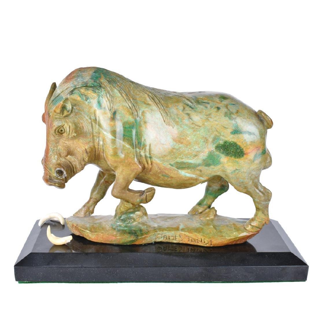 James Tandi (20/21st century) Verdite Sculpture