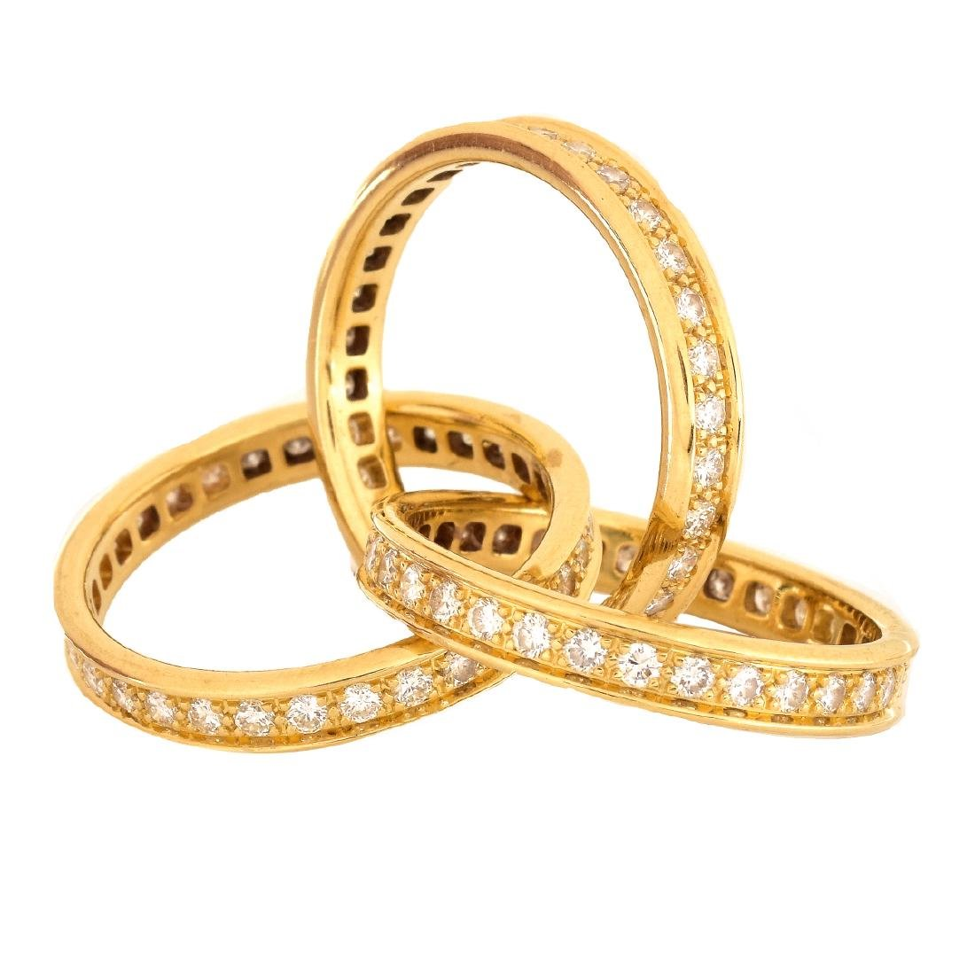 Cartier Diamond and 18K Gold Rolling Ring