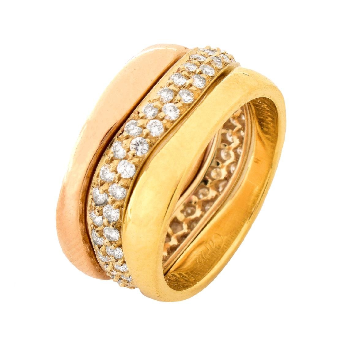 Cartier Diamond and 18K Gold Eternity Bands