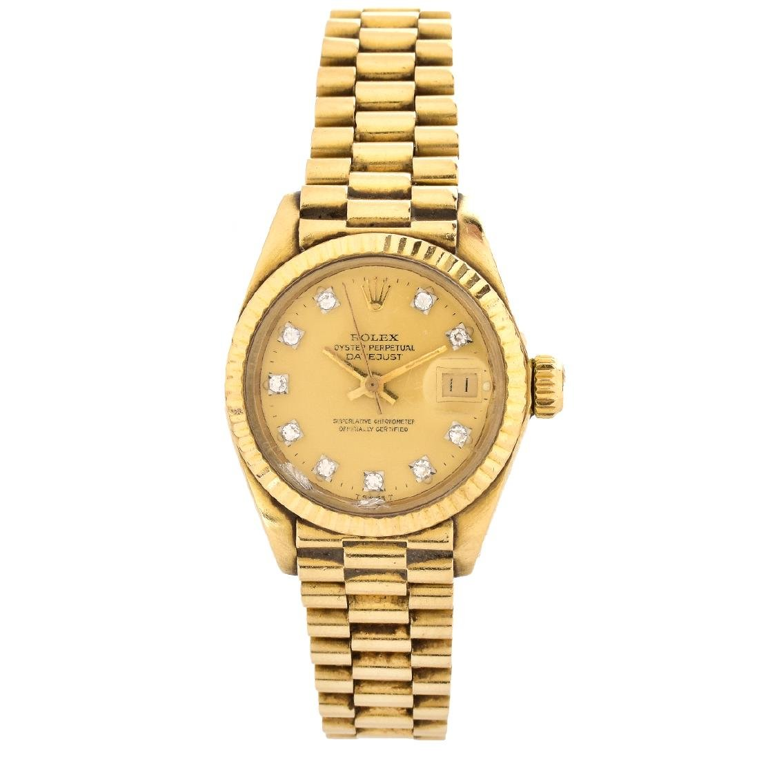 Lady's Rolex 18K Gold Date Just Watch