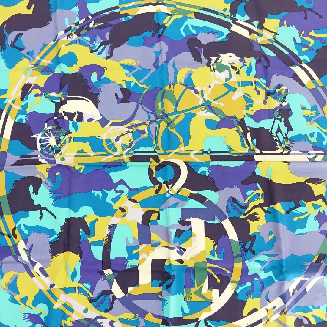 Hermes Ex Libris en Camouflage Twill Silk Scarf - 2