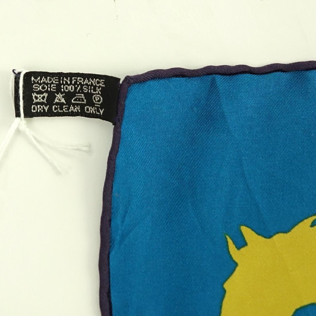Hermes Ex Libris en Camouflage Twill Silk Scarf - 3