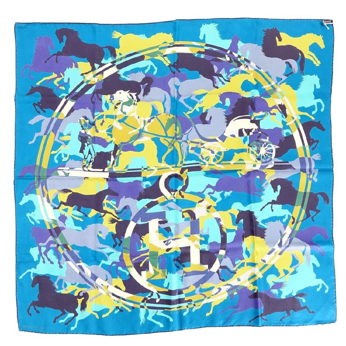 Hermes Ex Libris en Camouflage Twill Silk Scarf - 4