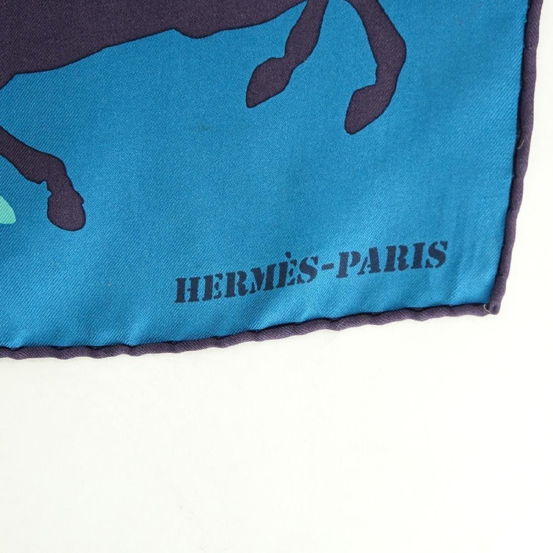 Hermes Ex Libris en Camouflage Twill Silk Scarf - 7