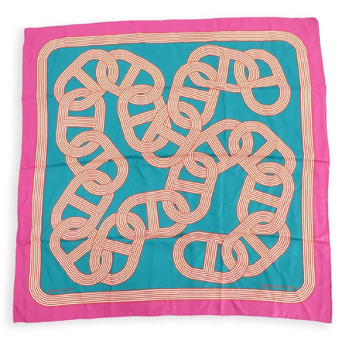 Hermes Circuit 24 Faubourg Twill Silk Scarf