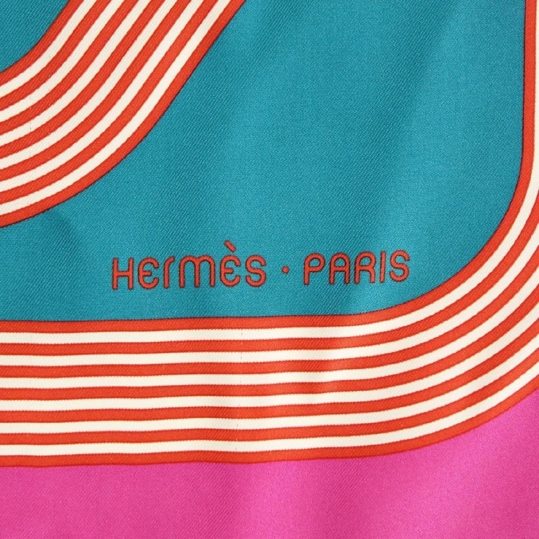 Hermes Circuit 24 Faubourg Twill Silk Scarf - 3