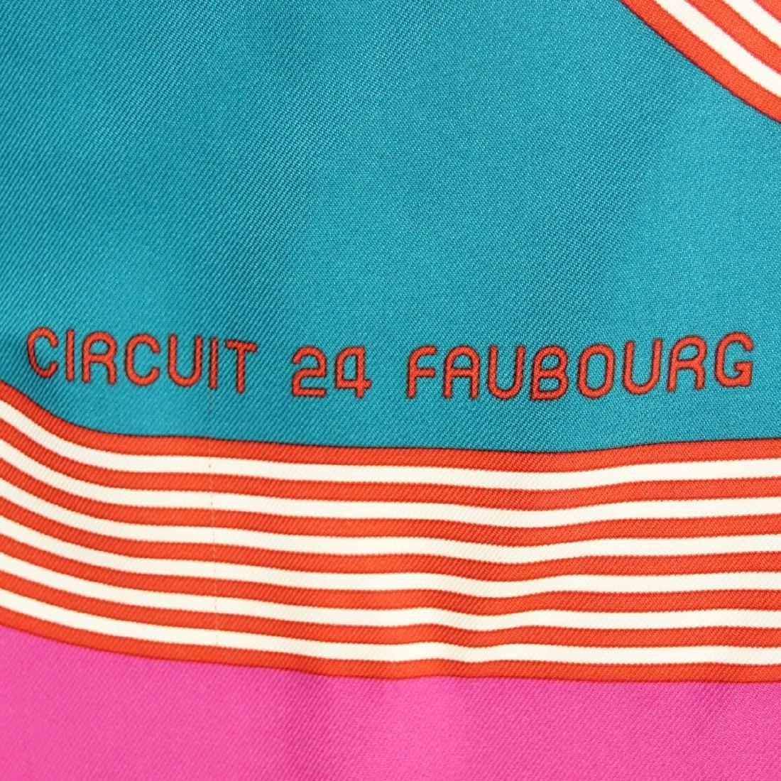 Hermes Circuit 24 Faubourg Twill Silk Scarf - 4
