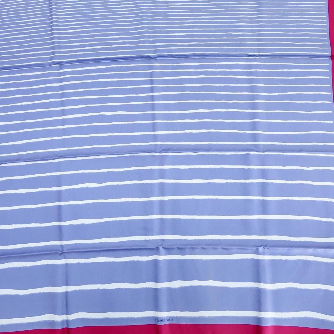 Hermes Gradient Stripe Twill Silk Scarf - 2