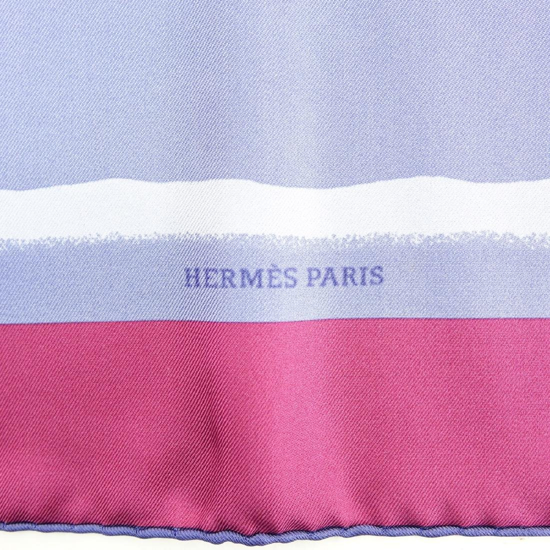 Hermes Gradient Stripe Twill Silk Scarf - 5
