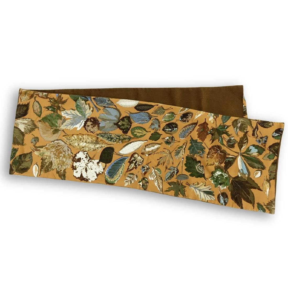 Hermes Autumn Leaves Silk and Angora Winter Scarf