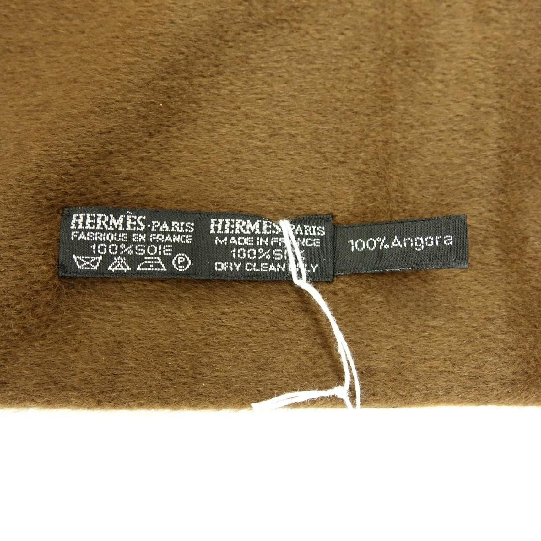 Hermes Autumn Leaves Silk and Angora Winter Scarf - 7