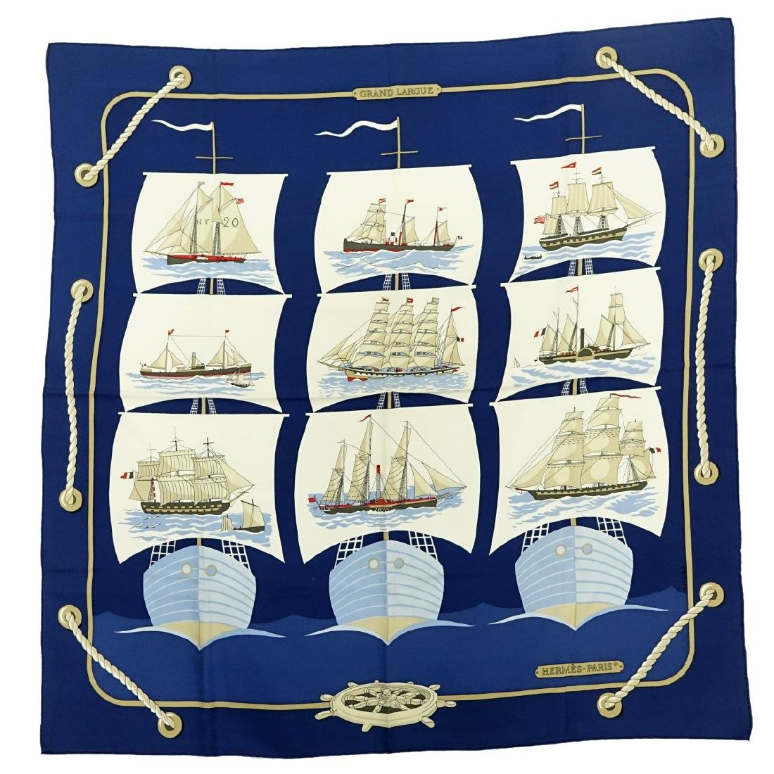 Hermes Grand Largue Twill Silk Scarf