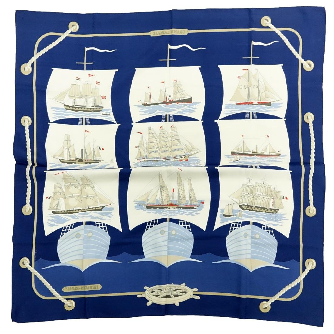Hermes Grand Largue Twill Silk Scarf - 7