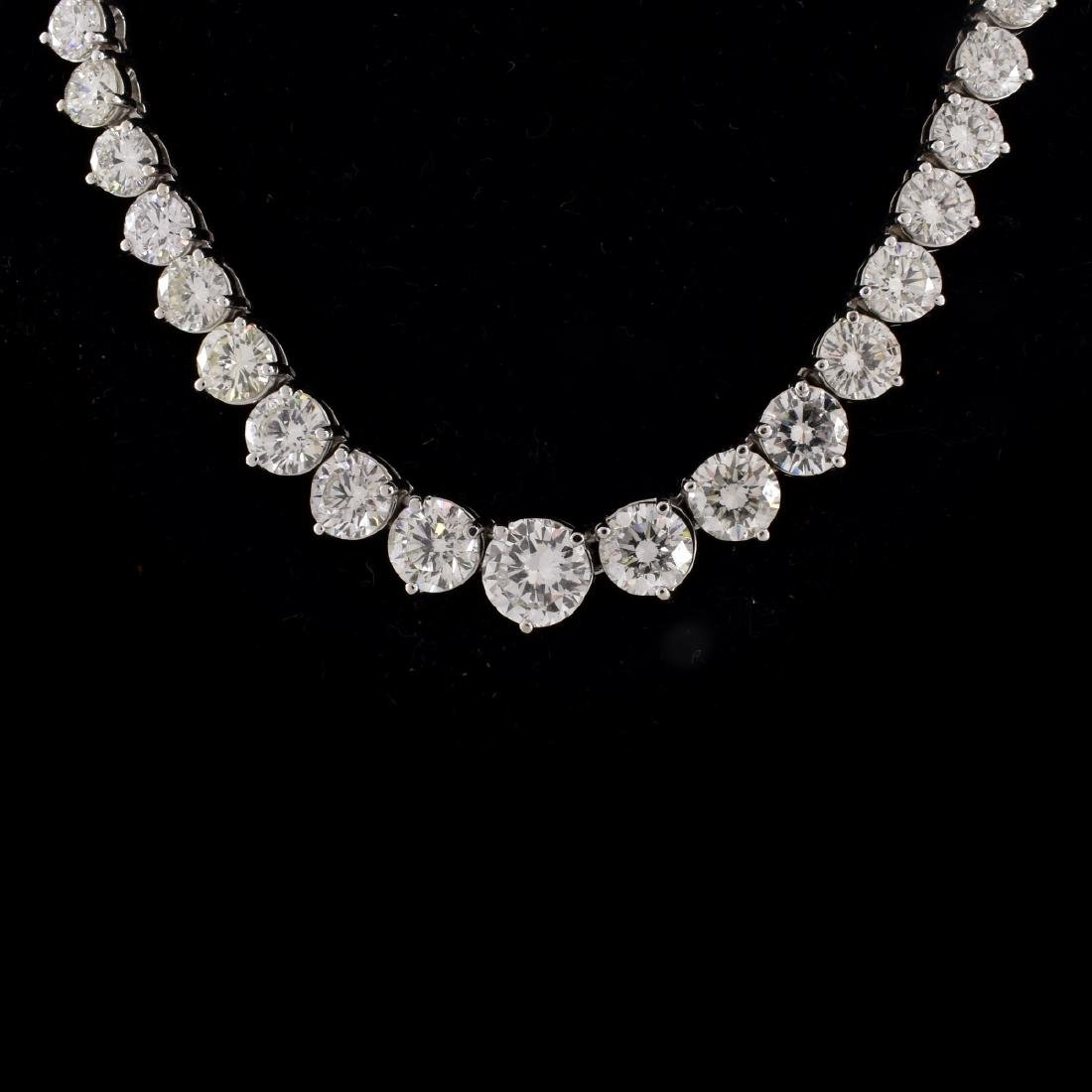 50.0ct TW Diamond and 18K Gold Necklace - 2