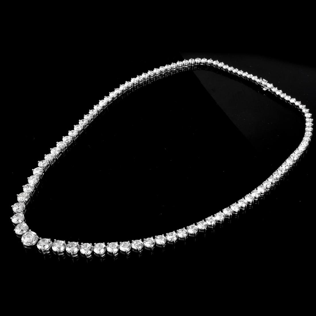 50.0ct TW Diamond and 18K Gold Necklace - 3