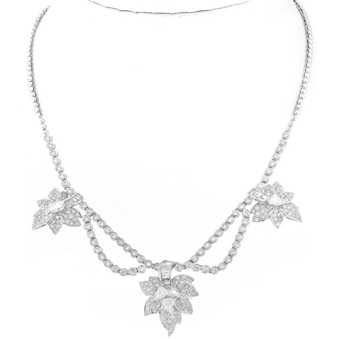 6.09ct Diamond and 18K Gold Necklace