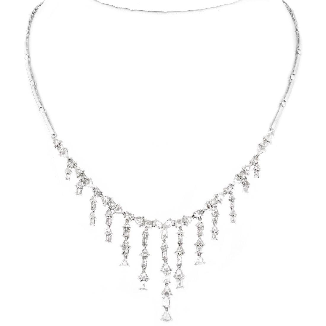 8.42ct Diamond and 18K Gold Necklace