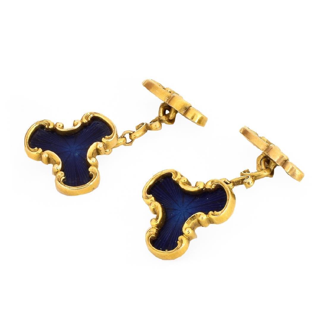 Russian Faberge Cufflinks