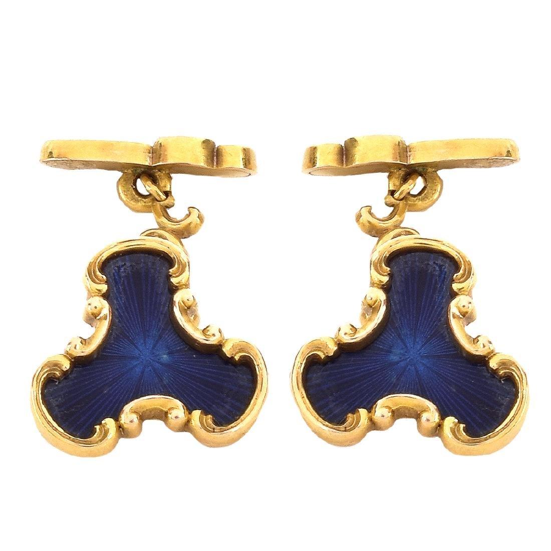 Russian Faberge Cufflinks - 2