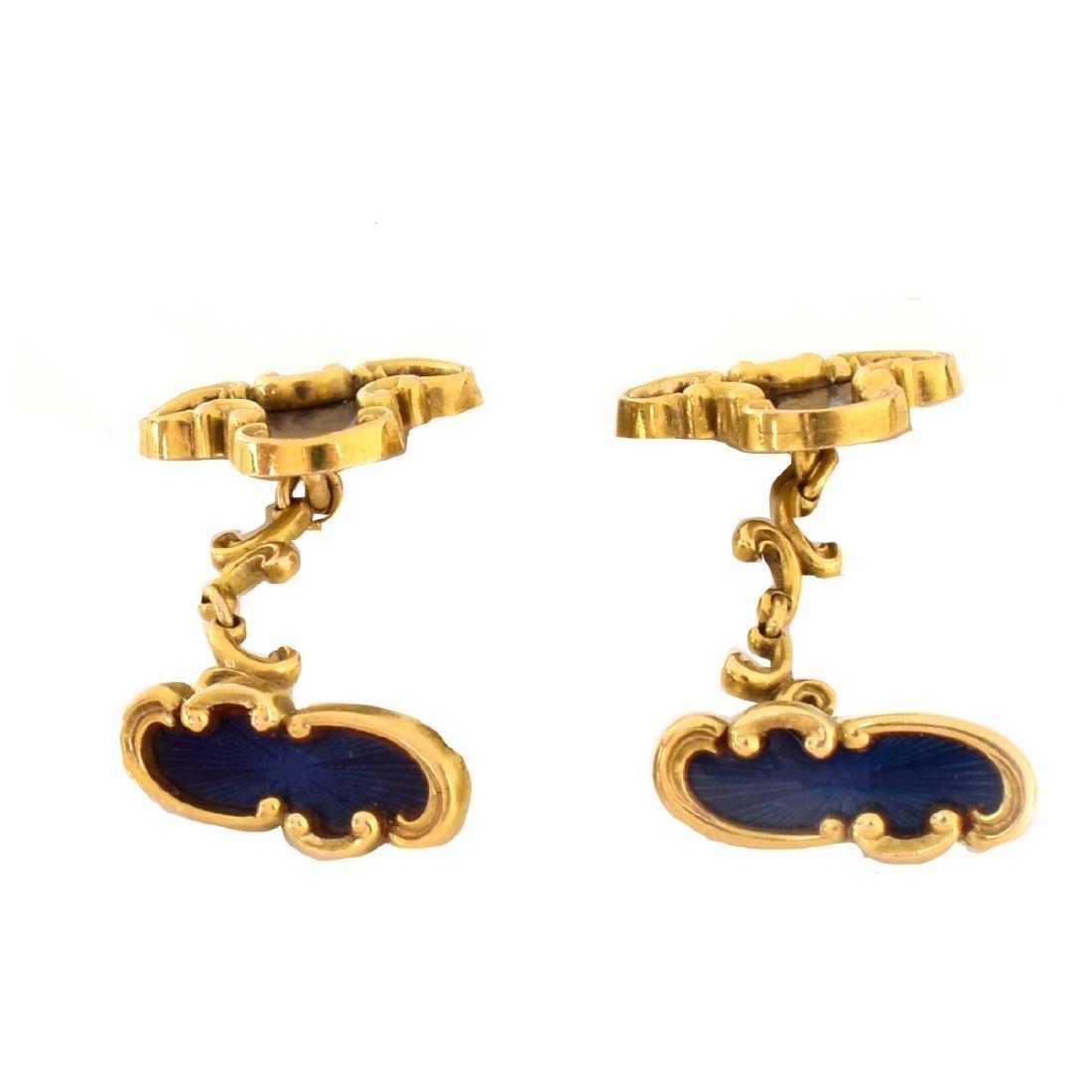 Russian Faberge Cufflinks - 3