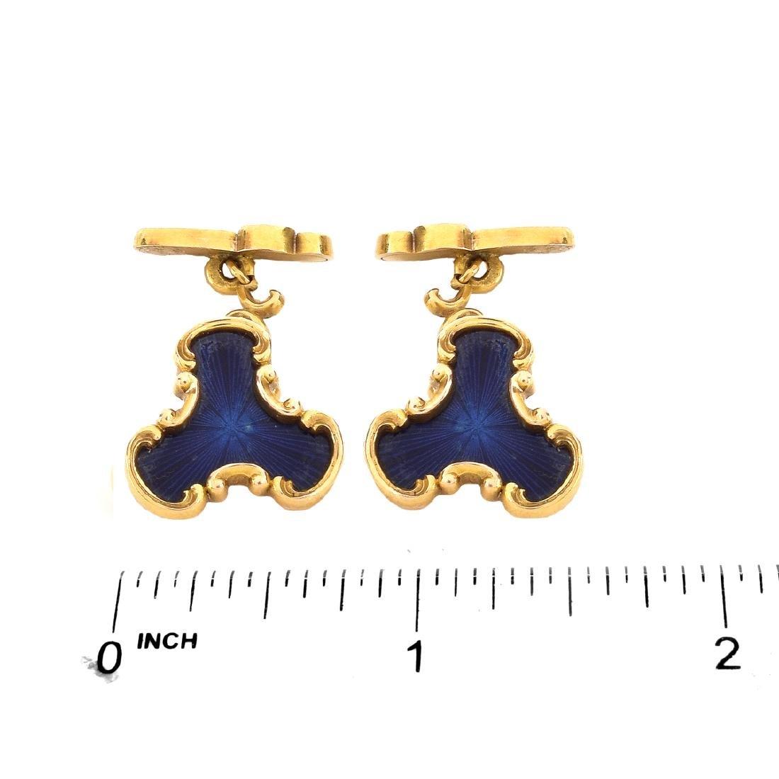 Russian Faberge Cufflinks - 4