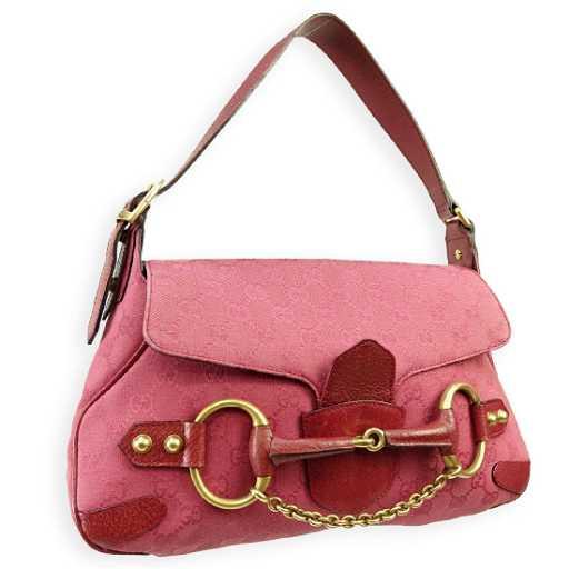 97615f9d756 Gucci Magenta Signature Horse Bit Saddle Bag