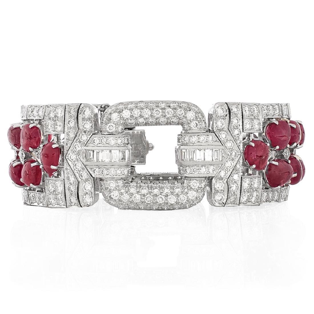 Ruby, Diamond and 18K Gold Bracelet