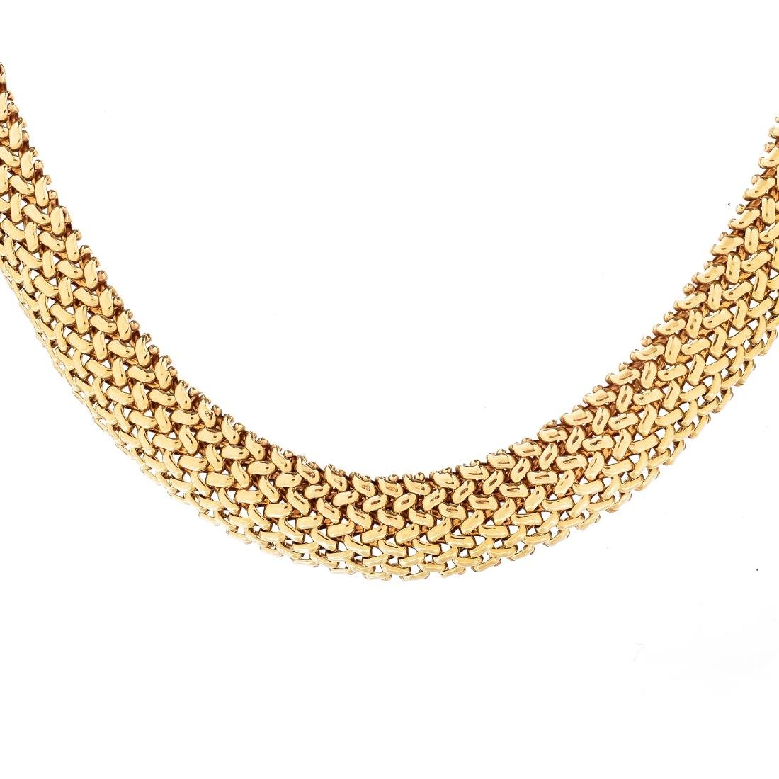 14K Gold Mesh Necklace