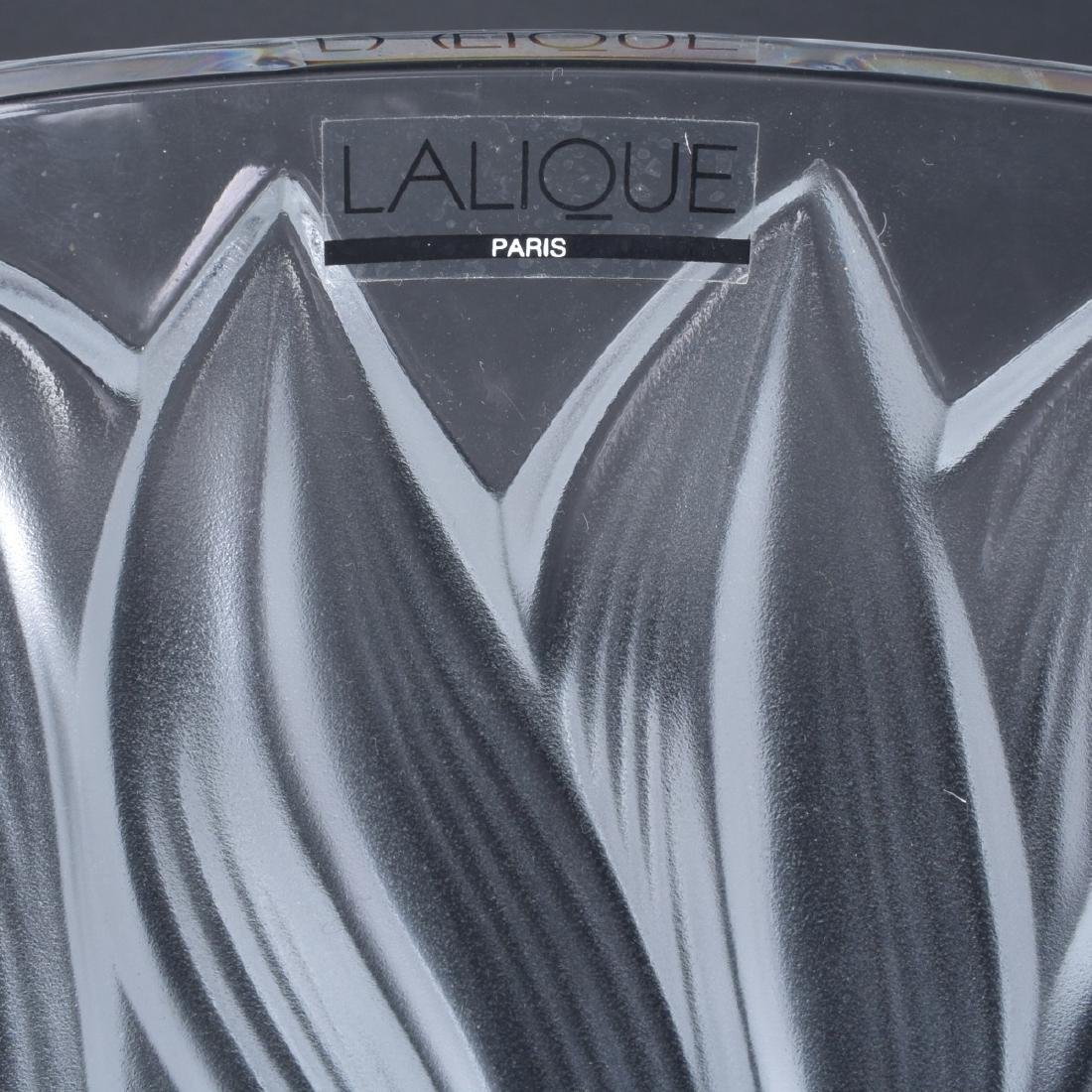 Lalique Jaguar Clear and Frosted Crystal Vase - 5