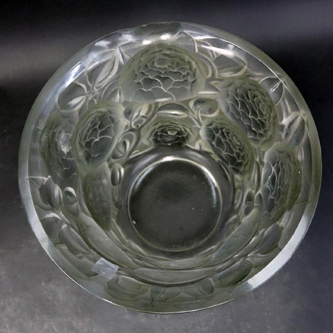 "Large Rene Lalique ""Oran"" Frosted Art Glass Vase - 3"